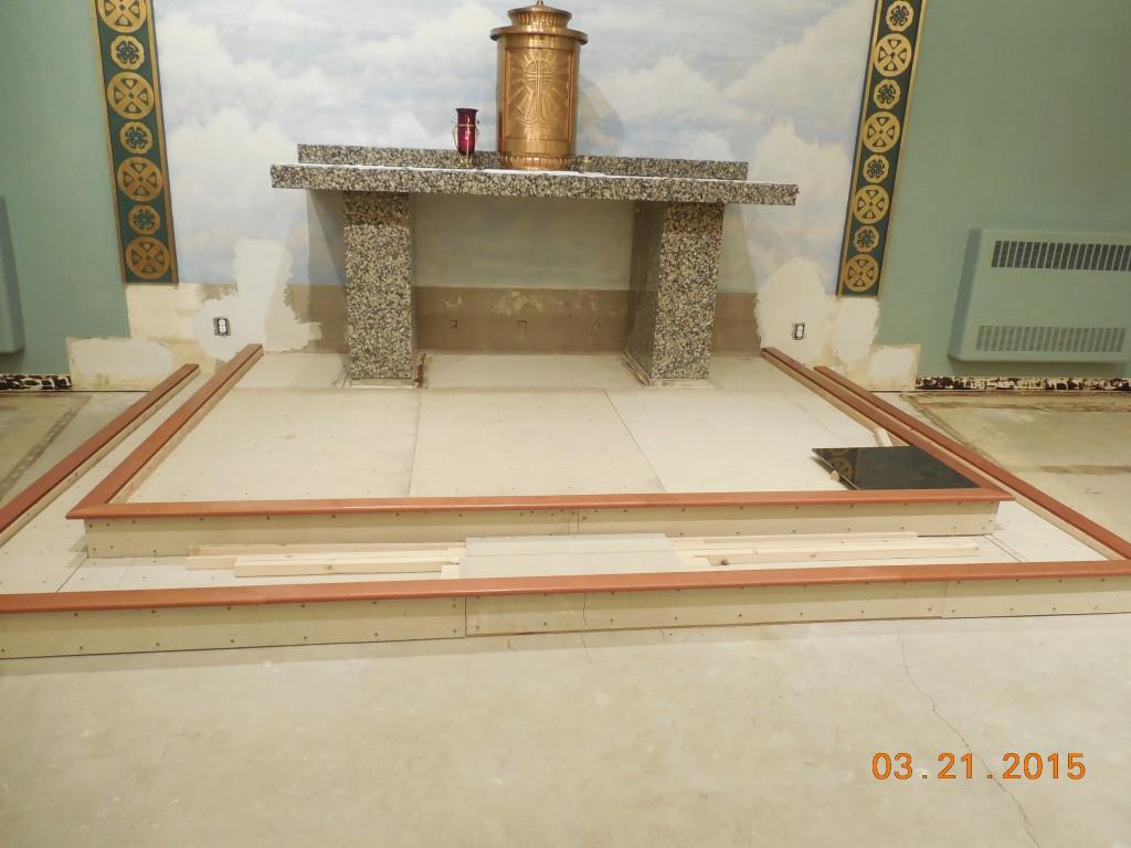 Sanctuary Renovations – March 2015