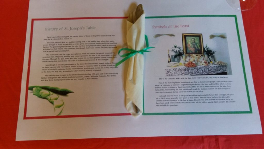 Saint Joseph's Table – March 2016