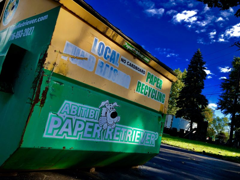 Use Our Paper Recycle Dumpster