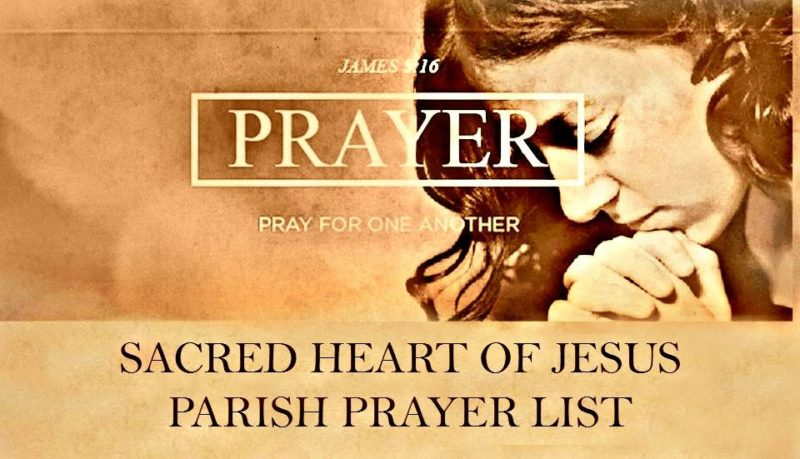 Please Pray for: