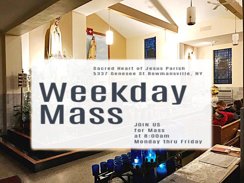 Weekday Mass 8:00 am