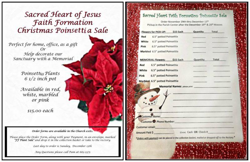 Faith Formation Poinsettia Sale