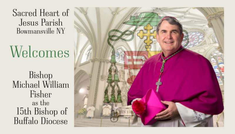 Welcome Bishop Michael William Fisher Installed as 15th Bishop of Buffalo Diocese