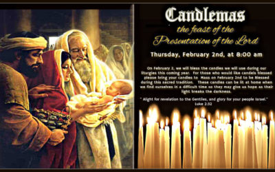 Candlemas – the feast of the Presentation of the Lord