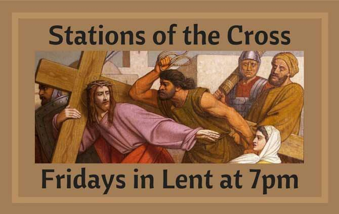 Stations of the Cross-Every Friday in Lent at 7:00 pm