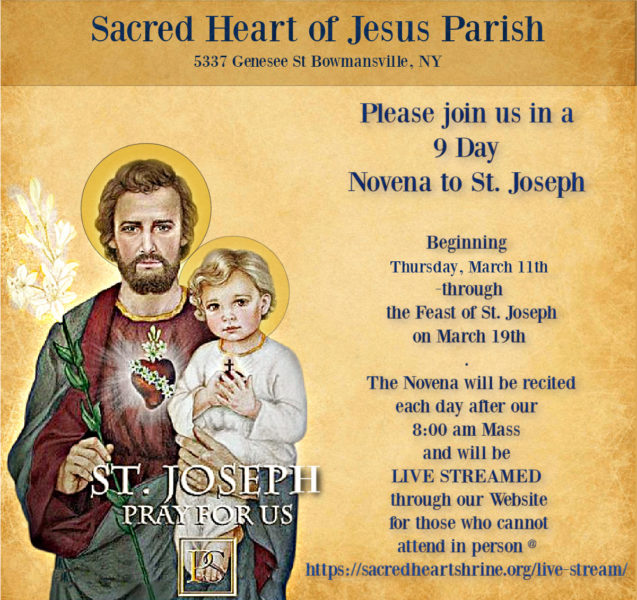 9 Day Novena to St. Joseph