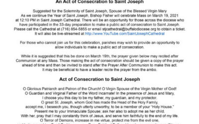 An Act of Consecration to Saint Joseph