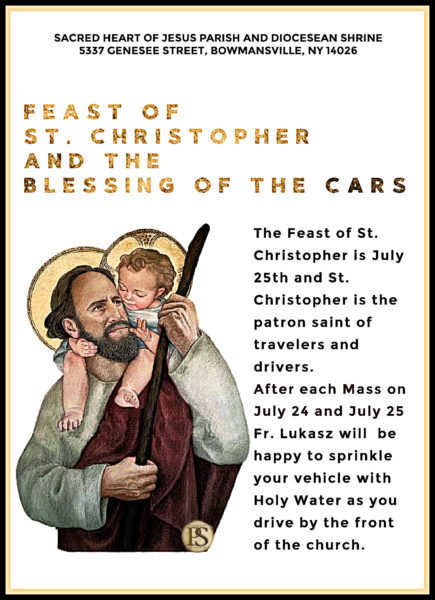 Feast of St. Christopher and Blessing of the Cars